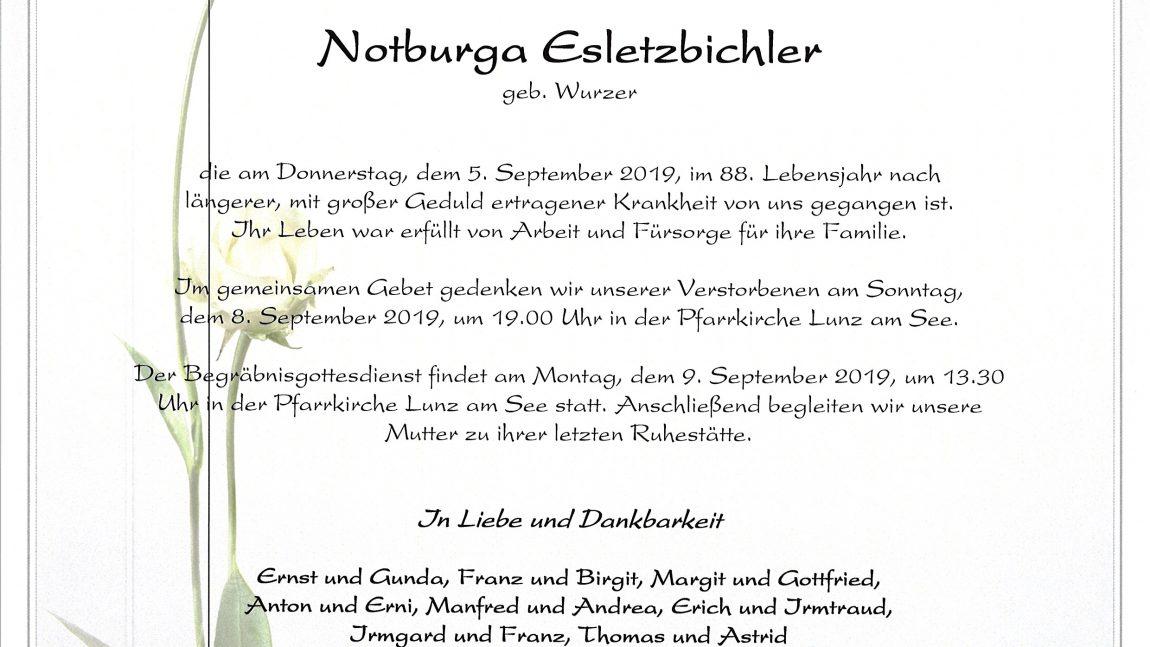Notburga Esletzbichler