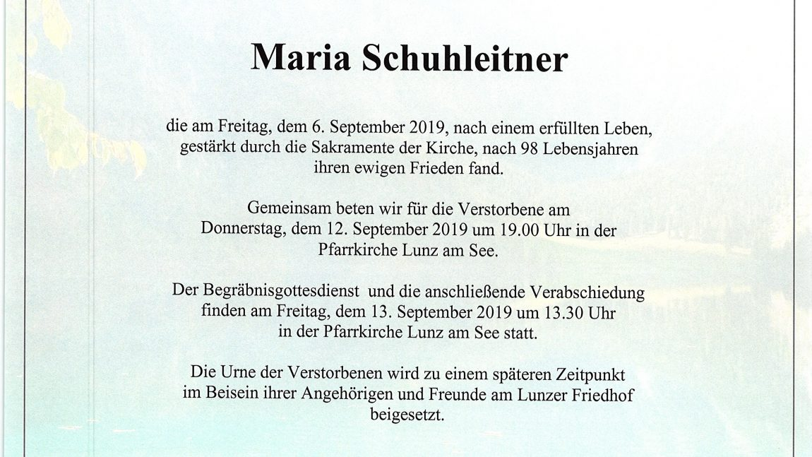 Maria Schuhleitner