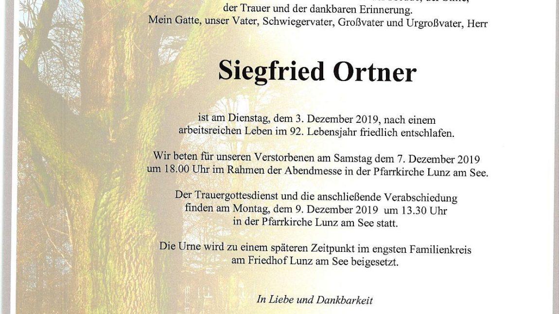 Siegfried Ortner