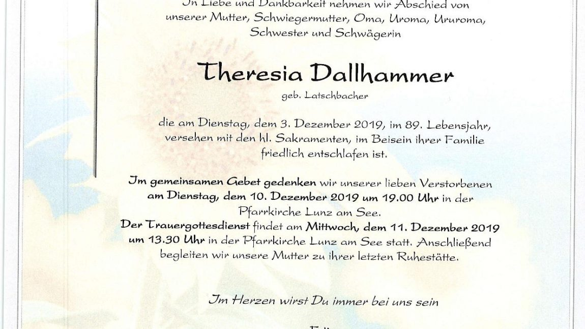 Theresia Dallhammer