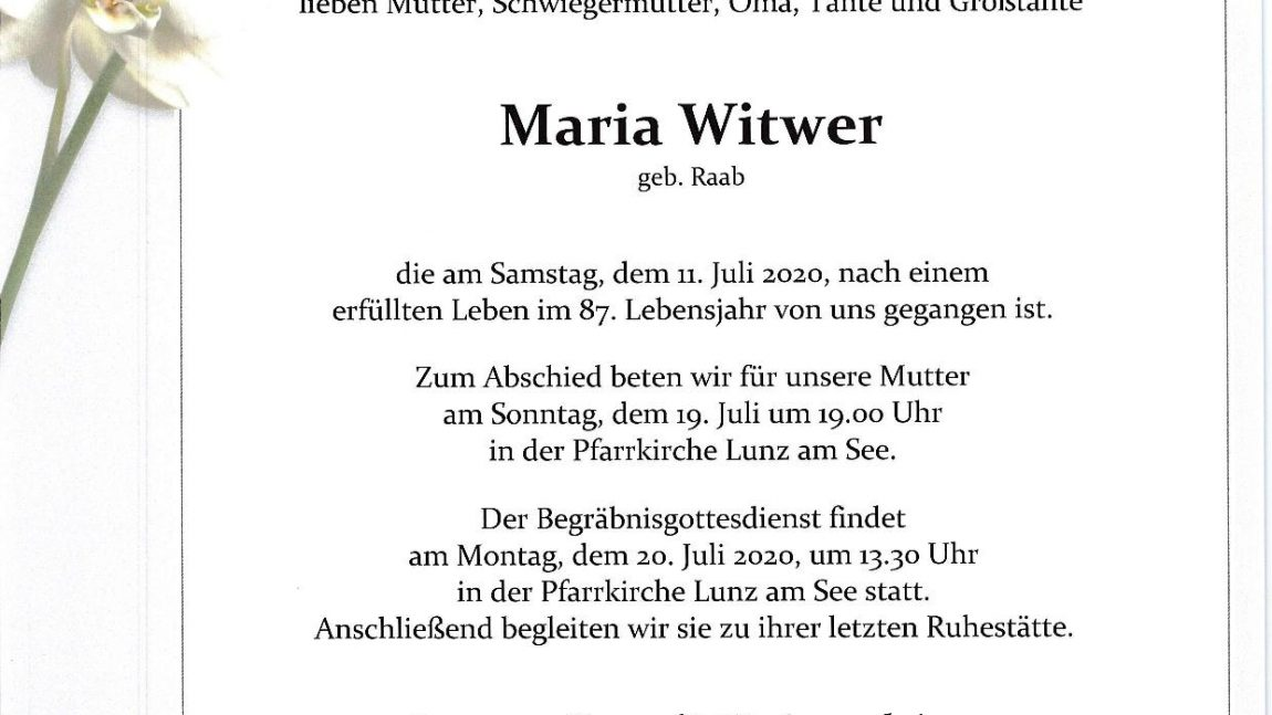 Maria Witwer