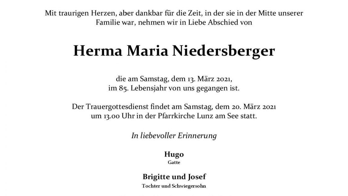 Herma Maria Niedersberger