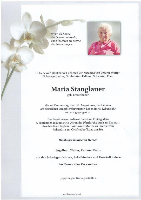 Maria Stanglauer