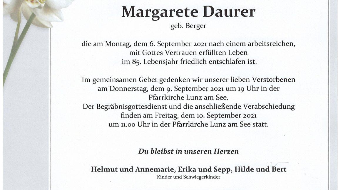 Margarete Daurer