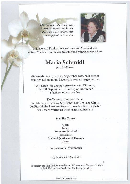 Maria Schmidl