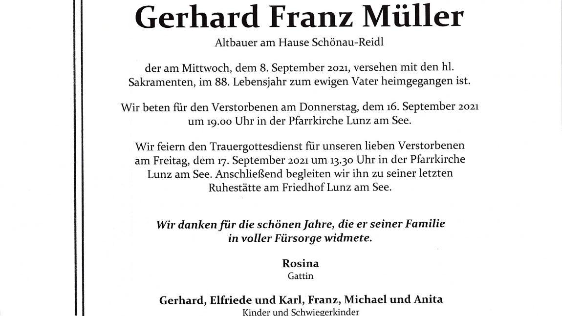 Gerhard Franz Müller