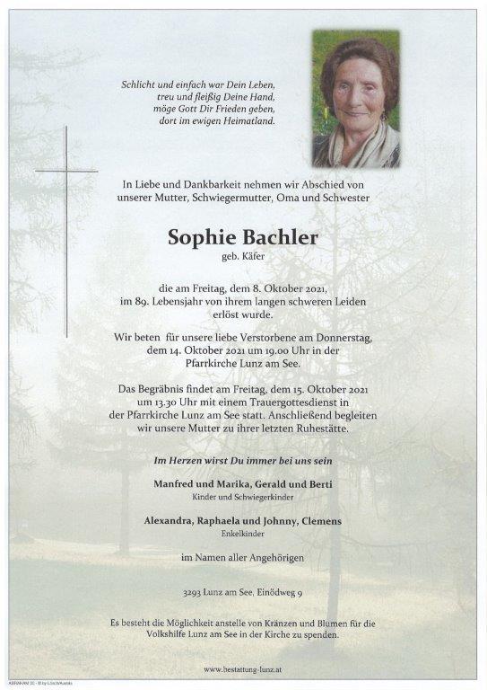 Sophie Bachler